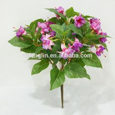 Natural wall hanging silk flower wall decorative artificial fuchsia cheap wholesale artificial fuchasia flower bunch indoor indoor decorative artificial flower bunch for sale view mightylinksfo Choice Image