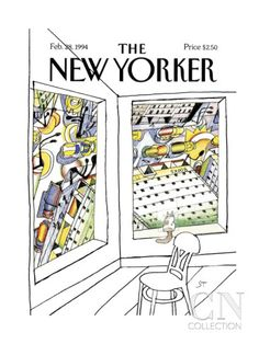 The New Yorker Cover - February 28, 1994 - by Saul Steinberg
