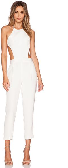 3c34f5e2a32 OLCAY GULSEN Exposed Top Jumpsuit