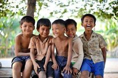 Cambodian young boys at countryside, we want to see your smile. #cambodia #smile #travel