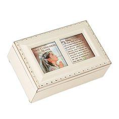 Cottage Garden First Communion Prayer Ivory Petite Music Box / Jewelry Box Plays Ave Maria