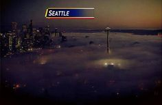 Seattle covered in fog. 10/23/2013. Click to enlarge and see a pretty cool picture!