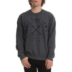 All Time Low Baltimore Crew Pullover | Hot Topic ($29) ❤ liked on Polyvore featuring tops, sweaters, crew-neck tops, crew neck pullover sweater, crew-neck sweaters, nautical tops and pullover tops