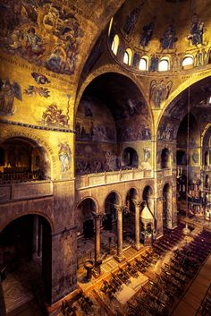 Interior of the Basilica di San Marco in Venice, Italy