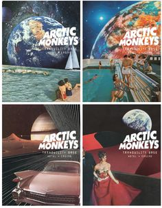 http://theoreoarmy.tumblr.com/post/173948224964/veinsofmantra-arctic-monkeys-tranquillity-base Best Indie Music, Dope Music, Monkey Art, Alex Turner, Band Posters, Music Bands, Monkeys, Paper Pieced Patterns, Bands