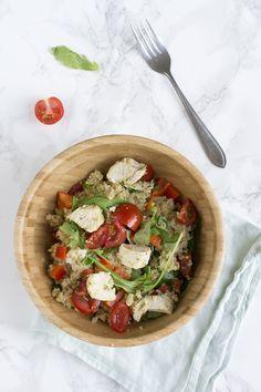 Quinoa met kip en tomaatjes | via BrendaKookt.nl