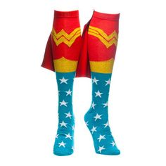 Wonder Woman socks... So want these for running!