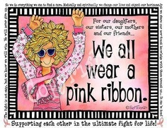 we all wear a pink ribbon