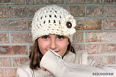 Ravelry: Chunky Button Flower Crochet Hat pattern by Krista Cagle