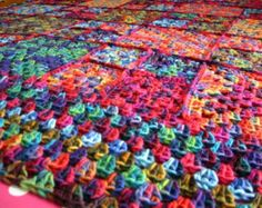 Mirasol Crochet Granny Squares BLANKET Afghan