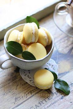 Lemon Macarons   More foodie lusciousness here: http://mylusciouslife.com/photo-galleries/wining-dining-entertaining-and-celebrating/