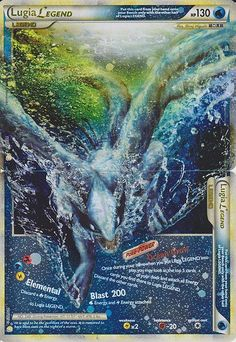 Wow, that's an amazing card. I love how Lugia is knocking the words out of place!