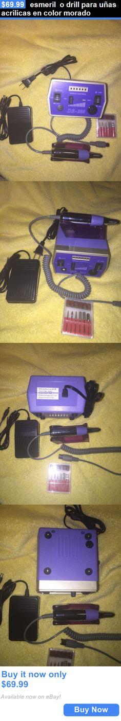 Nails: Esmeril O Drill Para Uñas Acrilicas En Color Morado BUY IT NOW ONLY: $69.99