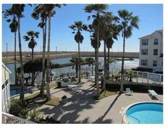 Corpus Christi condo rental - View of pond, private pool entrance and clubhouse, less than 200 feet away.