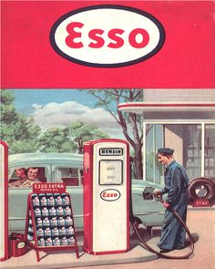 I remember when the gas attendant pumped gas for you & washed your windshield, retro poster Posters Vintage, Vintage Advertising Posters, Retro Poster, Old Advertisements, Vintage Art Prints, Retro Ads, Advertising Signs, Art Posters, 1950s Advertising