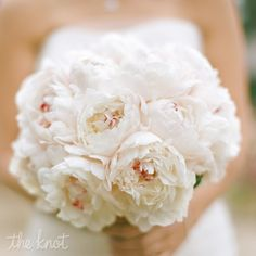 ウエディング ブーケ White Peonies Bridal Bouquet