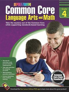 Help fourth grade students master Common Core skills such as determining a story's theme, using prepositional phrases, understanding fractions, and more with Common Core Language Arts and Math Spectrum workbooks.