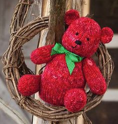 Patrón Gratuito de Punto de rubíes del oso por Michele Wilcox
