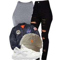 NASA by queenc98 on Polyvore featuring Alpha Industries and NIKE