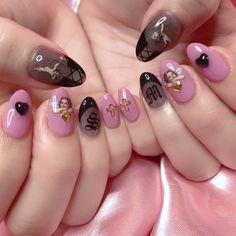 Nail Art Ideas To Dress Up Any Occasion – Your Beautiful Nails Nail Art Designs, Orange Nail Designs, Long Nail Designs, Fancy Nails, Pretty Nails, Witchy Nails, Ten Nails, Instagram Nails, Chrome Nails