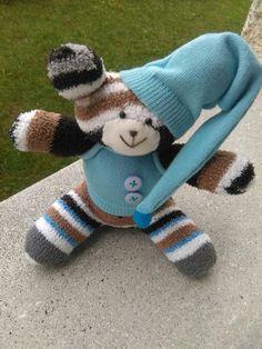 Biagio, pupazzo fatto a mano realizzato con calzini colorati