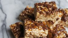 Try the recipe for Salted-Caramel Rice Krispies Treats.