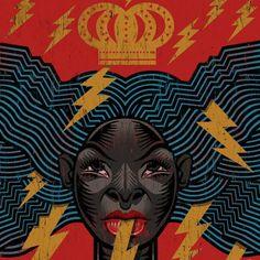 Oya by André Hora African American Art, African Art, Spirited Art, Black Goddess, Popular Art, Afro Art, Black Art, Wicked, Artist