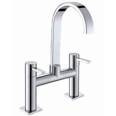 Contemporary Double Handle Widespread Bathroom Faucet Wave Series