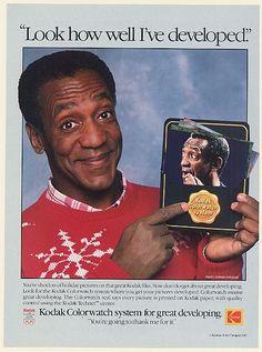 1988 Bill Cosby Kodak Colorwatch System Look How Well I've Developed Photo Ad | eBay