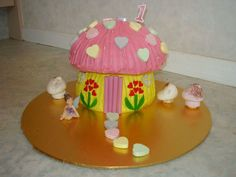 Fairy House on Cake Central Fairy House Cake, Cake Templates, Cake Central, 3rd Birthday, Chloe, Cake Designs, 3 Year Olds
