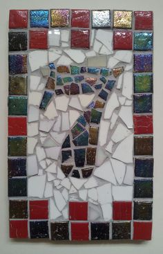 Mosaic House number by Helen Disley