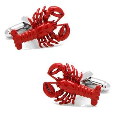 Eat some fresh lobster while wearing these Red Lobster Cufflinks. Plated base metal with bullet back closure. Approximately x Plated base metal with enamel Bullet back closure Lobster Fest, Red Lobster, Nautical Wedding, Red Wedding, Wedding Ideas, Suit Accessories, Wedding Accessories, Designer Cufflinks, Kid Shoes