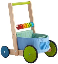 Amazon.com: Haba Color Fun Walker Wagon: Toys & Games