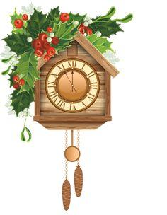 Christmas Cuckoo Clock PNG Clipart