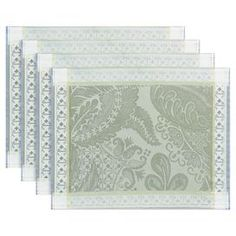 Set of four cotton placemats with a floral design.Product: Set of 4 placematsConstruction Material: 100% Cotton