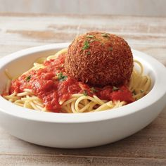 Mozzarella-stuffed Meatballs (Chicken Parm Meatballs) via Martha Stewart