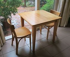 Sturdy Extendable Kitchen Table with Two Chairs (pick up in Glen Iris, VIC) Mirrored Side Tables, Mirrored Nightstand, Mirrored Furniture, Extendable Kitchen Table, Mobile Tv Stand, Tv Floor Stand, Timber Table, High Stool, Floating Wall Shelves