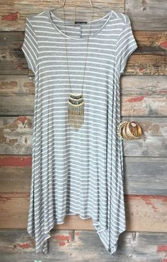 Stripe Shark Bite Tunic from privityboutique