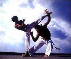 La capoeira est un art martial brésilien très acrobatique mêlant techniques de combat et danse folklorique.