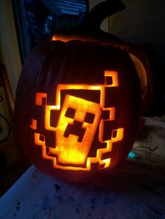 Pumpkins Minecraft And Carving On Pinterest