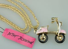 Scooter Pendant Necklace Betsey Johnson
