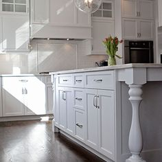 Kitchen Island with Turned Legs