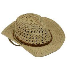 96cee95163 Chic Braid and Rope Straw Openwork Cowboy Style sunhat boho summer beach  farmer