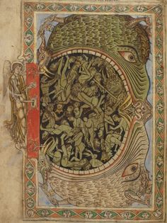 British Library, MS Cotton Nero C IV, detail of f. 39r. 'Winchester Psalter' or 'Psalter of Henry of Blois'. Mid-12th century