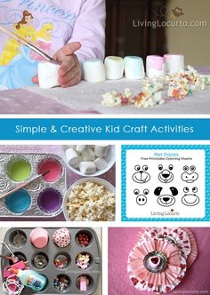 Getting Crafty & DIY / 3 Easy and fun craft ideas for kids. Great indoor activities! #crafts