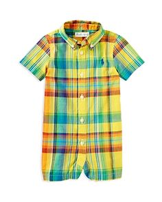 Home :: Rompers :: Ralph Lauren Childrenswear Infant Boys' Madras Plaid Romper - Sizes 3-12 Months Ralph Lauren Childrenswear Infant Boys' Madras Plaid Romper - Sizes 3-12 Months-Kids Price: $45.00 Sale: $18.22 Buy More information
