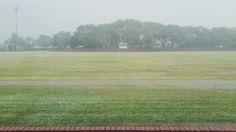 Raining. Hailstorm.