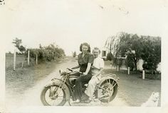 Vintage Photo Biker Babes Photography Paper by dawnandross on Etsy