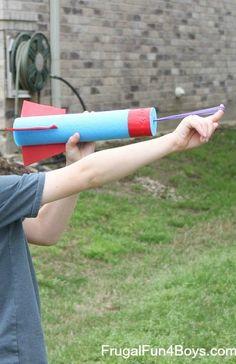How to make a pool noodle rocket flinger!