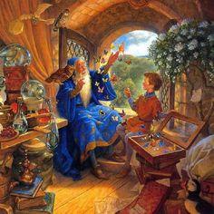 Merlin and Arthur, illustrated by Scott Gustafson